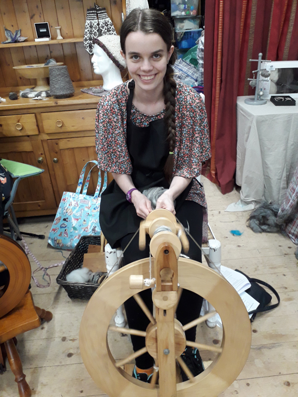Learn to spin at wild Wool Barn